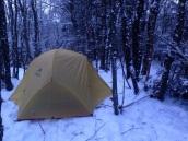 MSR teltet er ikke er rent vintertelt men det funket bra i snøen.