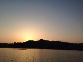 Flott solnedgang