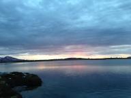 Solnedgangen fra Røvollsfjellet.
